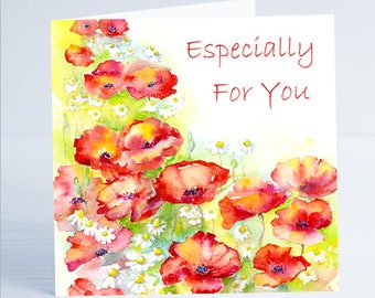Especially for You Greeting Card - From an original watercolour painting by Sheila Gill