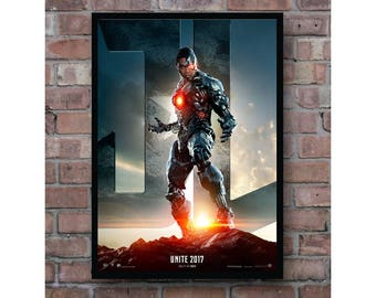 Justice League Cyborg movie poster dc superheroes Home Decor Poster