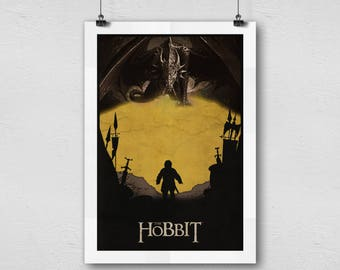 The Hobbit Bilbo Baggins And Smaug Home Decor Movie Poster