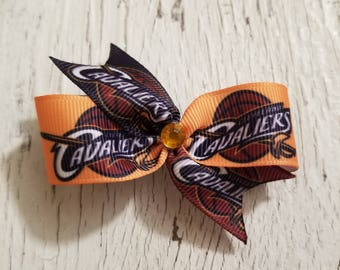 Cleveland Cavaliers Bow on French barrette