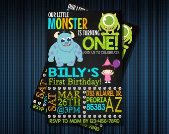 MONSTER INVITATION - Personalized Invitation - Custom Birthday - Printables Invitation - Digital file Download
