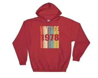 Retro 1978 Hoodie 40 yrs old Bday 40th Birthday Sweatshirt