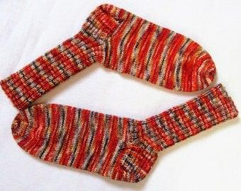 Handmade knitted socks wool socks knitted socks handmade hand knit socks wool 6 fold/threads gr. 42/43