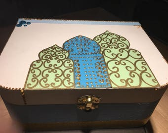 Box hand painted