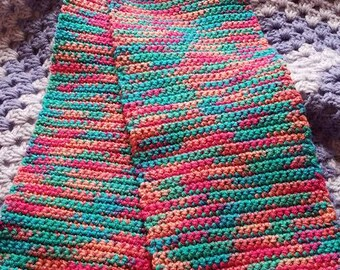 Pink and Teal Winter Scarf
