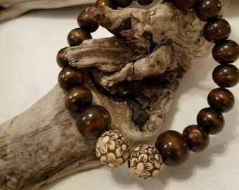 Wood beads/Flower Accents