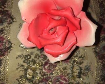 Capodimonte Pink Rose Porcelain