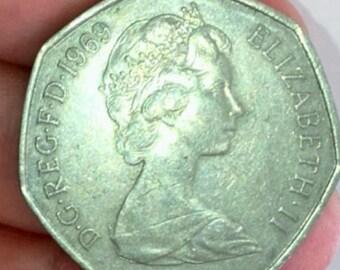 1969 Elizabeth ll 50 New Pence
