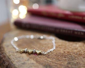 Be my Valentine heart bracelet