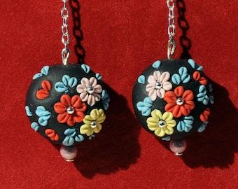 Jewelry handmade polymer clay gift earrings