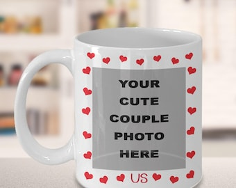 Valentines Day Mug For Couples | Wedding Mugs | Personalized Mug Photo