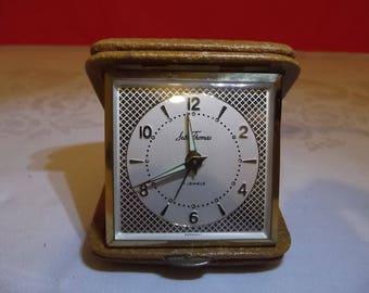Seth Thomas 7 Jewels Folding Travel Alarm Clock- Made in Germany