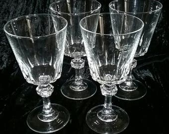 Lead Crystal Wine Goblets lot of 4