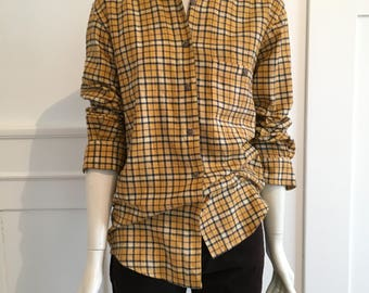 Plaid blouse from the 70s