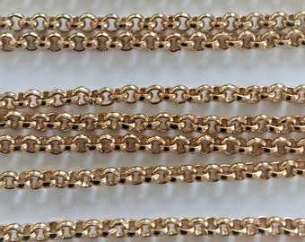 Gold Plated Belcher Chain 3mm wide links.