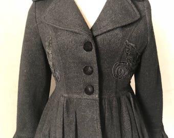 vintage black jacket