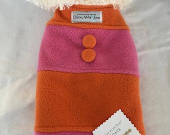 Fleece Rugby dog coat