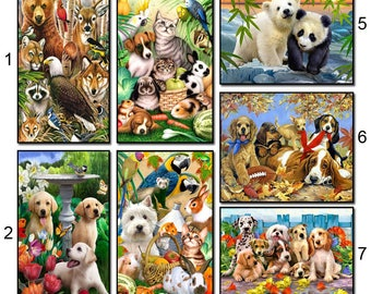 Animal Dog 5D Diamond Mosaic Diy Diamond Embroidery  Square Paste Full Cross Stitch Kit Diy Diamond Painting