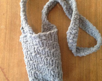 Cup cozy with strap