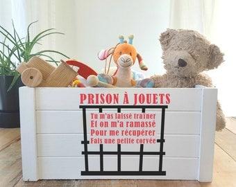 Autocollant PRISON À JOUETS en vinyl