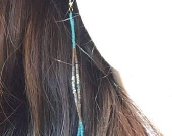 Turquoise Daydream - Long Sead Bead Earrings