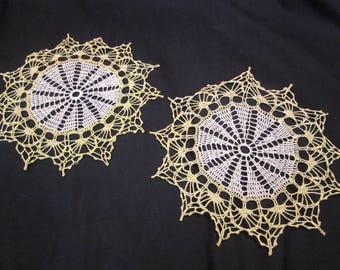 Vintage Doily Hand Crochet Lace