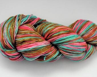 "Hand dyed 80/20 Superwash Merino/Nylon ""Spring 1"""