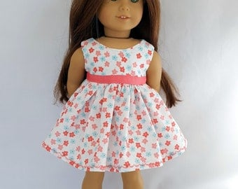"Flowered Easter dress fits 18"" dolls such as American Girl"
