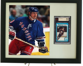 Sports Card Frame for a BVG (Beckett) Graded Vertical Card with an 8 x 10 Vertical Photo Opening