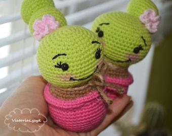 Crochet amigurumi cactus Gift for Women Gift for Valentine's Day