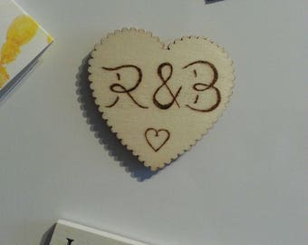 Personalised Initial Heart Magnet Valentine