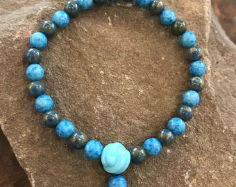 Bluestone Mala Bracelet