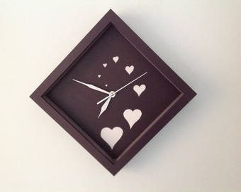 Handpainted decorative Wall Clock one off signed