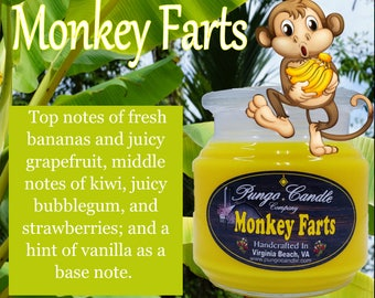 Monkey Farts Scented Jar Candle (16 oz.)!