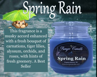 Spring Rain Scented Jar Candle (16 oz.)!