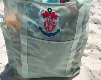 Personalized anchor beach bag