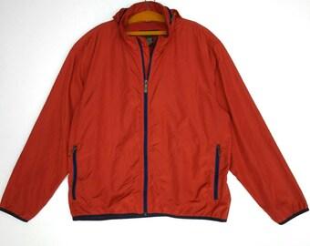 Eddie Bouer Hoodie Windbreaker Jacket Large
