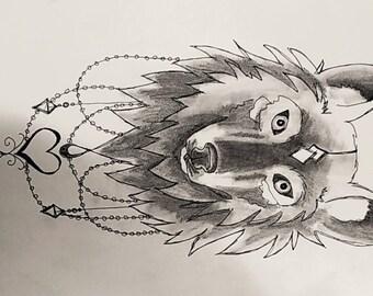 wolf/dog sketch