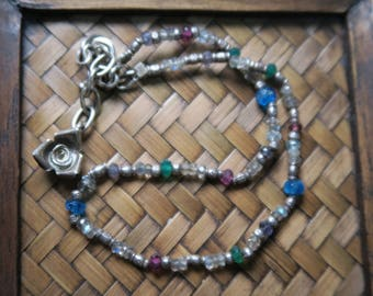 Anklets with gemstone/Thai Silver