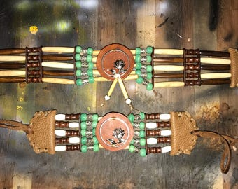 Native choker and bracelet set