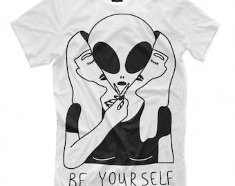 Be Yourself Art Full Print T-shirt