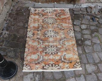 Free Shipping anatolian organic wool turkish vintage rug 2.4 x 3.9 ft. oushak rug handmade turkey rug small area rug decorative rug MB239