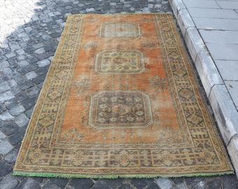 Muted color turkish rug, Free Shipping 4.6 x 7.9 ft. rustic rug, bohemian floor rug, nomadic area rug, turkish carpet, anatolian rug MB262