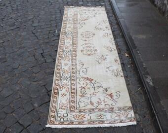 Rustic rug Free Shipping anatolian rug 2.7 x 9.2 ft. bohemian runner rug hallway rug muted color rug low pile rug organic turkish rug MB395