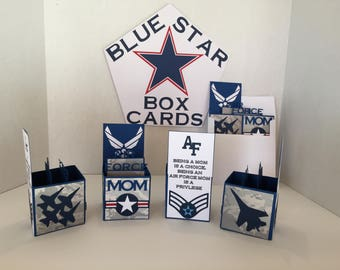 Air Force Mom Box Card