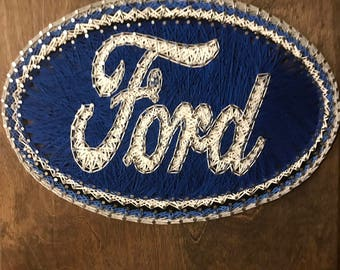 Ford Decal String Art