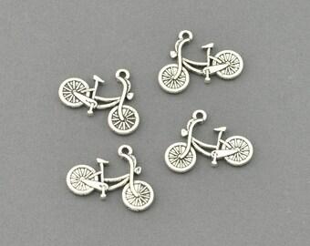 Antique Silver Tone Kid's Bike Charm (AS00-0027)