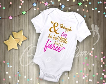 Custom Baby Onesie / though she little