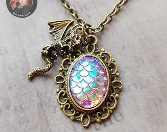 "Bronze necklace ""Dragon Egg"""