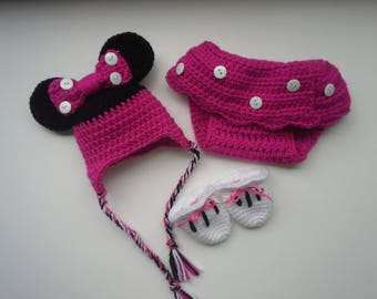 Minnie Mouse Hat and Skirt Set